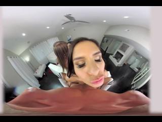 VR 360 – Katya, Jill & Brenna gangbang Ryan after spin the bottle