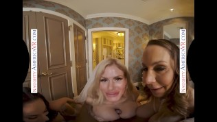 Naughty America – Watch as these hot MILFS get down & dirty with Alex's big cock!