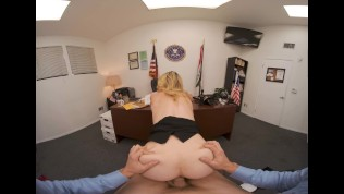VR BANGERS Determined Sexy FBI Agent Force You With Her Wet Pussy VR Porn